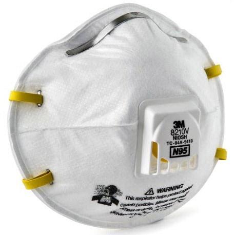 ❀❧3M™ 8210N95 ชนิดวาล์ว มาตรฐาน NIOSH [COD]หน้ากากป้องกันฝุ่น ละออง 8210V  N95 หน้ากากป้องกันฝุ่นละออง ชนิดวาล์ว  Valved
