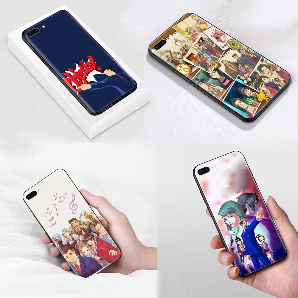 S-175 Ace Attorney Soft Silicone Case Casing for iPhone X 5 SE 5S 6 6s 7 8 Plus