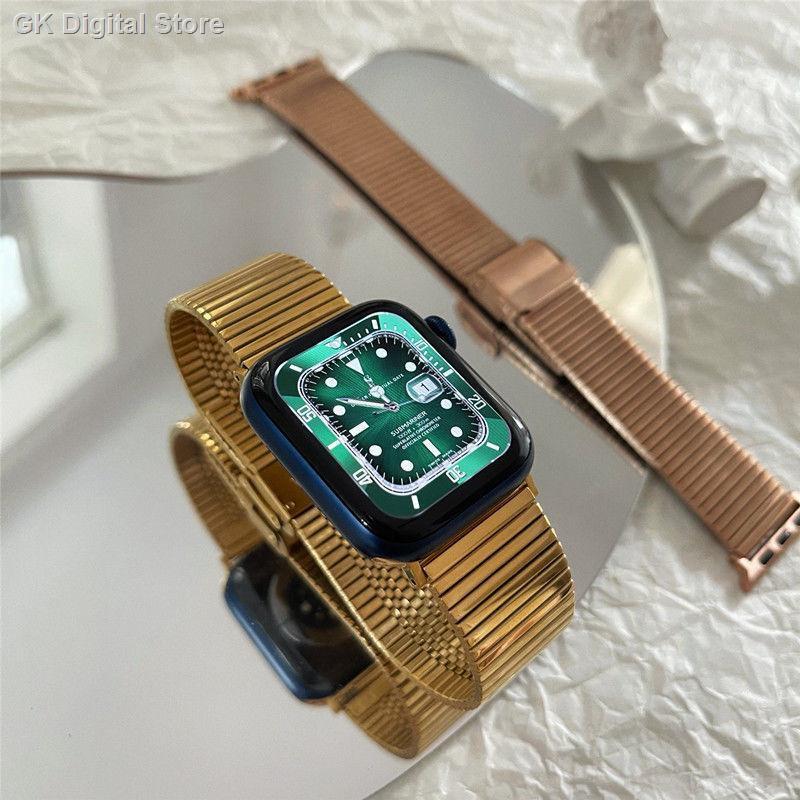 【อุปกรณ์เสริมของ applewatch】▬﹍❈ใช้ได้กับ Applewatch Apple Watch 6 / SE 5 4 รุ่นโซ่สแตนเลส iwatch สายรัดข้อมือโลหะ