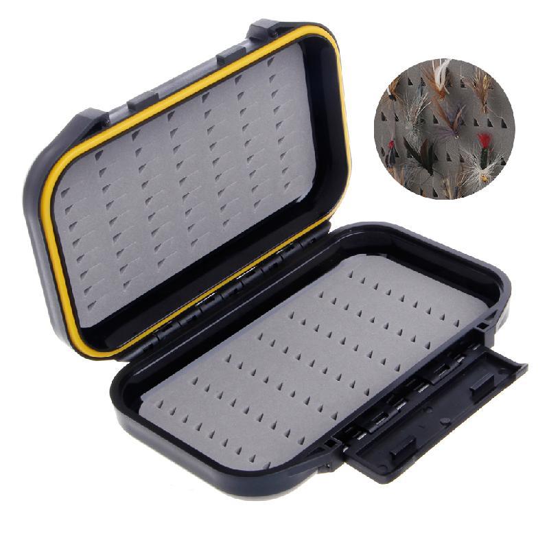 Ultra Slim Foam Bait Storage Case Plastic Flies Hook Fly Fishing Lure Tackle Box