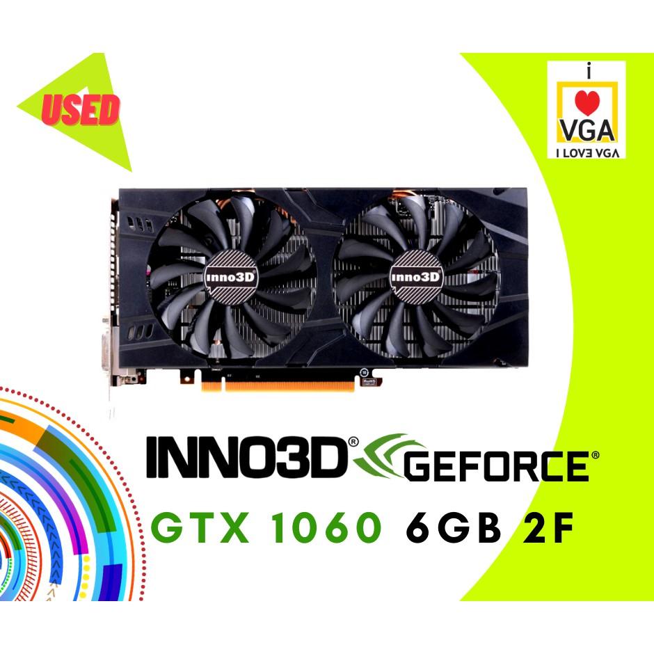 การ์ดจอ INNO3D GTX1060 OC 6GB 2F No Box (ประกัน Synnex ถึง 01/2021)