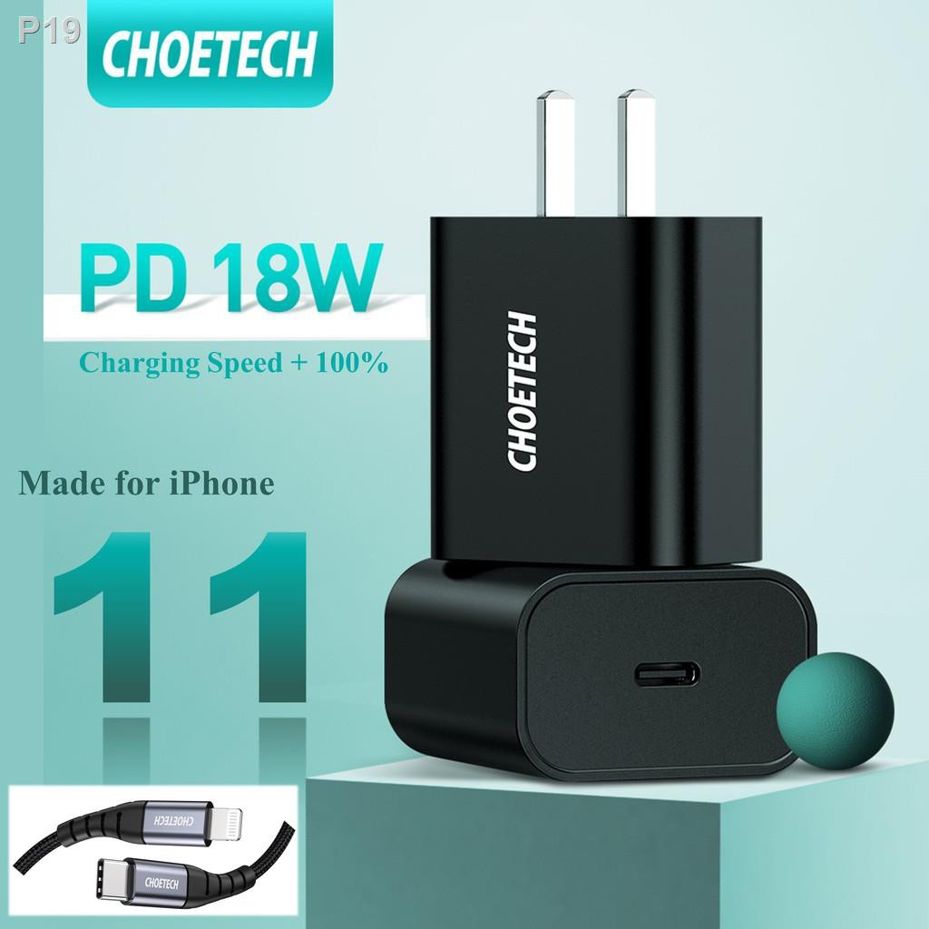 【Best-selling】♘﹊[Ready] CHOETECH USB C Charger 18W Power Delivery Type C Wall Charger iPhone 11/11 Pro XS Max/XR 8 iPad