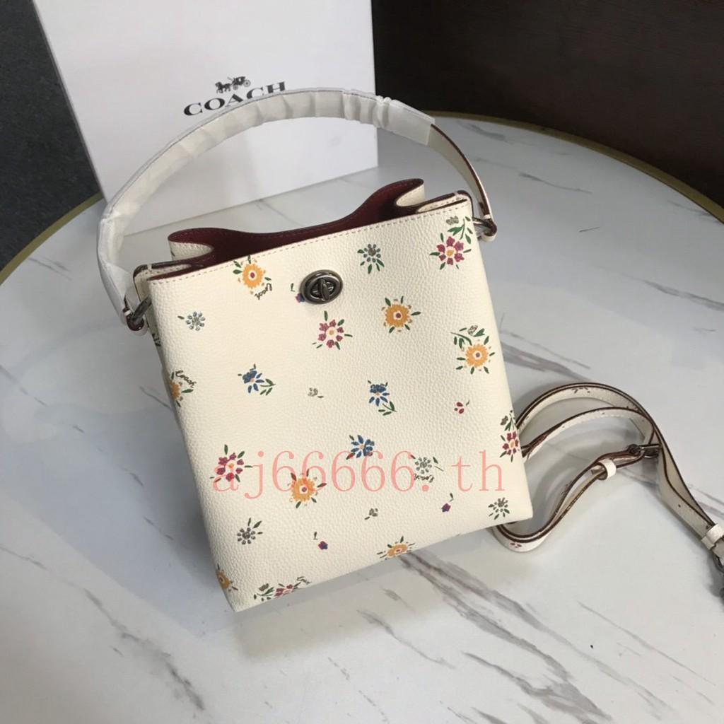 แท้💯% COACH  F1041 กระเป๋าสะพายข้าง MessengerBag  กระเป๋าสะพายข้างผู้หญิง【มีกล่อง , ใบแจ้งหนี้ , บัตร , จัดส่งฟรี】