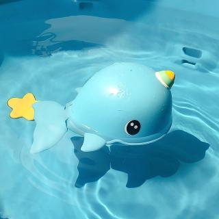 Baby Summer Water Toys Clockwork Dabbling Toy Swimming Whale Carp Baby Shower Bath Toys Shaking Sound Cute Na