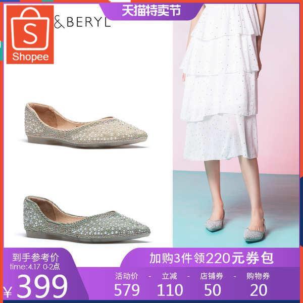 รองเท้าคัชชู ใส่สบาย สำหรับผู้หญิง รุ่นสีเรียบใส่ทำงาน FAIBLIER รองเท้าแบน 2021 ฤดูใบไม้ผลิและฤดูร้อนใหม่นางฟ้าลมสง่างาม