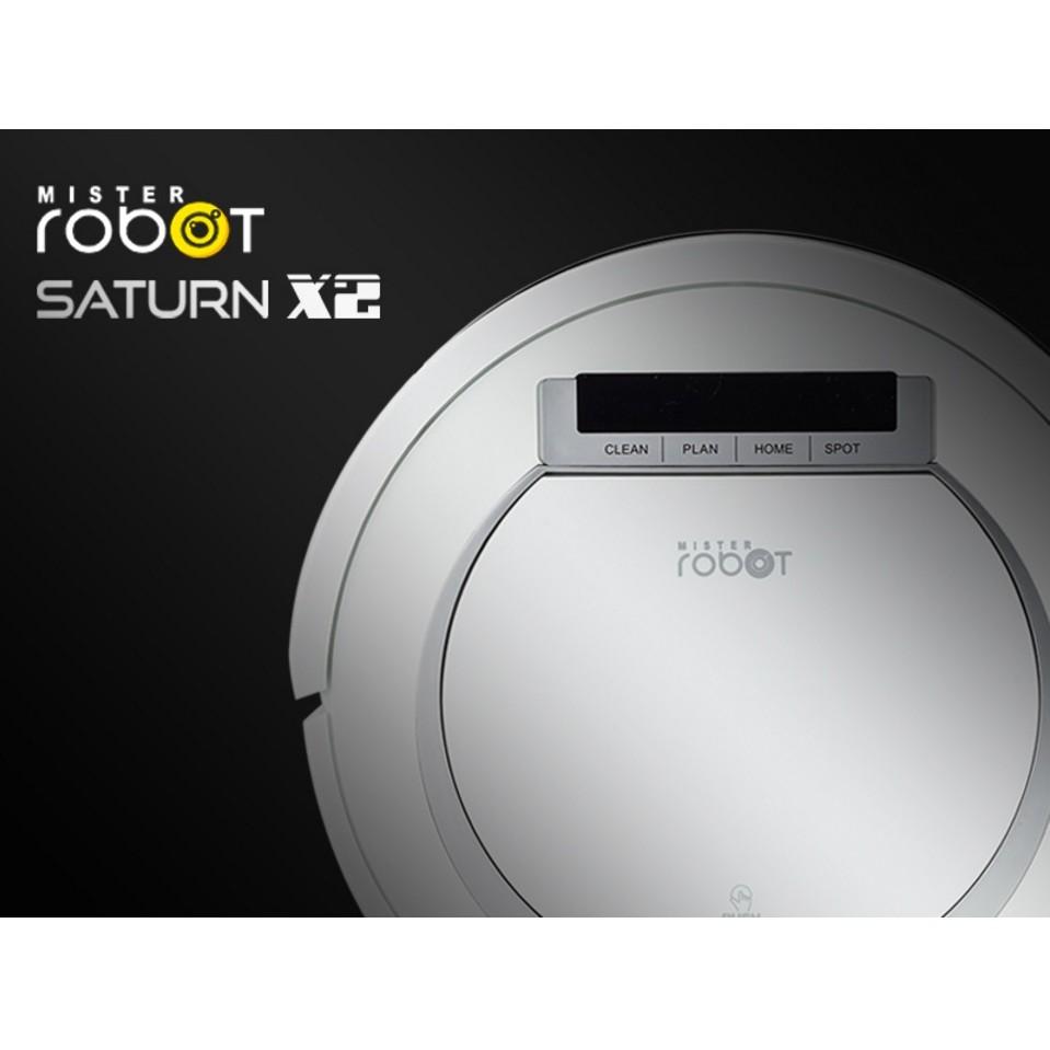 Mister Robot หุ่นยนต์ดูดฝุ่น รุ่น SATURN X2 (สีขาว)