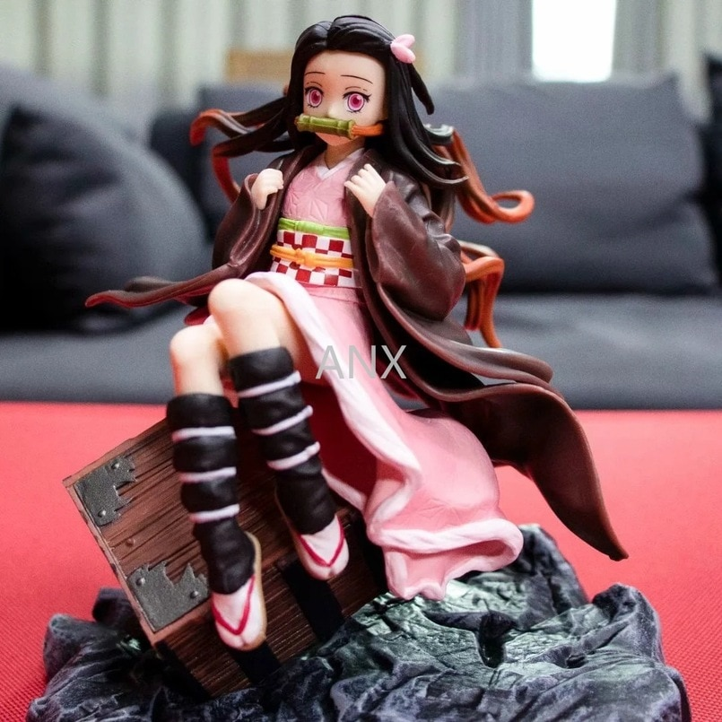 17CM Demon Slayer Kamado Nezuko Peripherals Figure PVC Action Anime Collection Doll Model Toy demon slayer great gifts