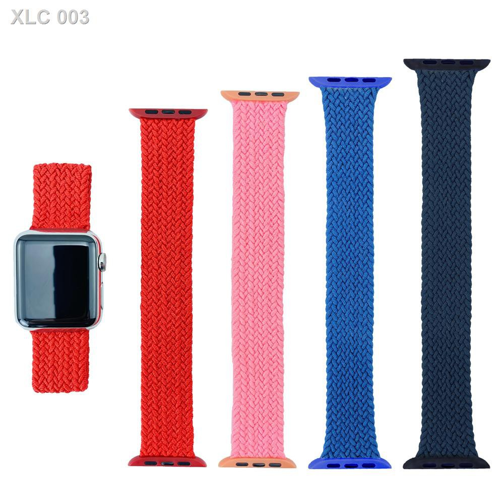 👑Hot Saleสาย applewatch newest Woven Solo Braided Loop Watch strap for apple 6 se 40 มม 44 42 38 iwatch series 5 4 3 21