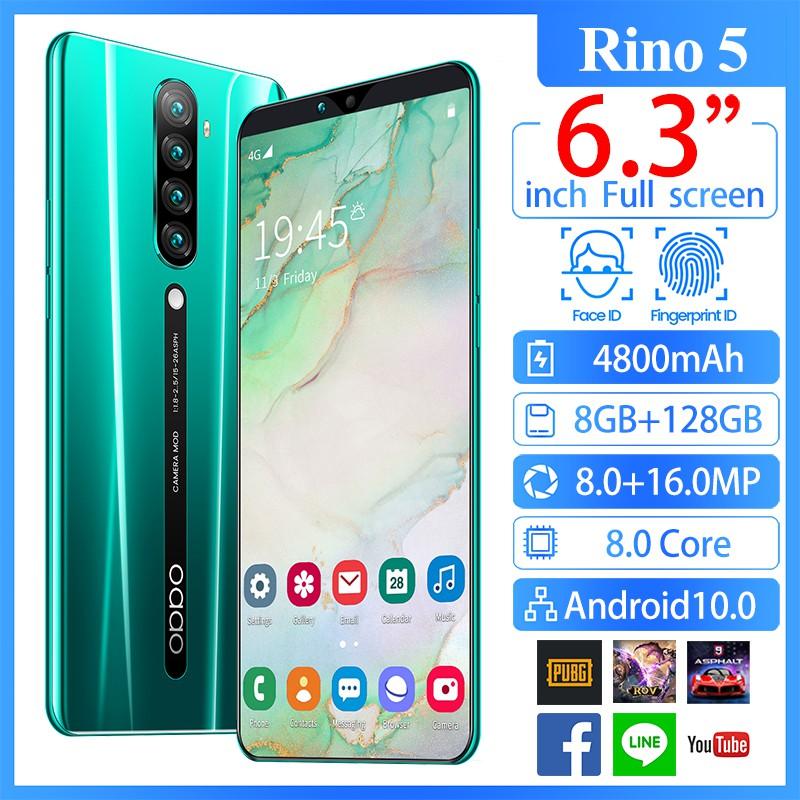 Samsung Rino 5 โทรศัพท์ล่าสุด ของแท้ 100% โทรศัพท์มือถือ 4G สมาร์ทโฟน 8+128GB 6.3 นิ้วเต็มหน้าจอ มือถือราคาถูก Samsung
