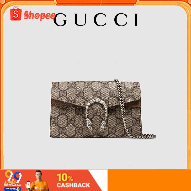 【9.9】Gucci Dionysus Dionysus ชุดกระเป๋าสะพายซูเปอร์มินิ