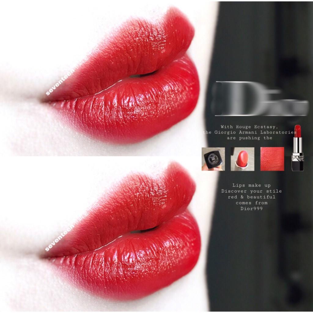 ◕☒【คลาสสิค! ราคาหุ้น] Dior Dior999 Blue Gold Lipstick Flame