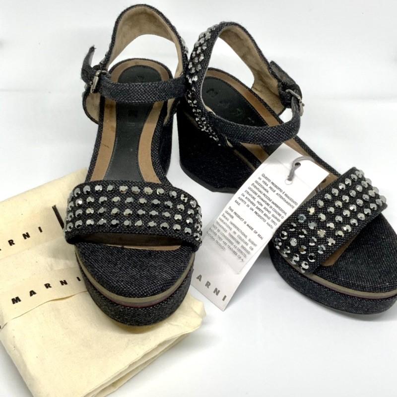 รองเท้าส้นตึก Marni swarovski sandal แบรนด์แท้ 💯