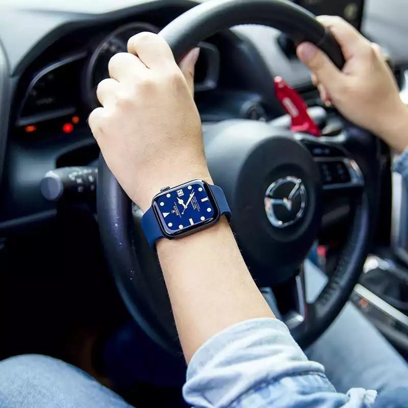 พร้อมส่ง‼️สายสำหรับ Apple Watch สีมาใหม่ series 6 5 4 3 2 1 สำหรับ applewatch ขนาด  42mm 44mm 38mm 40mm s7Vc