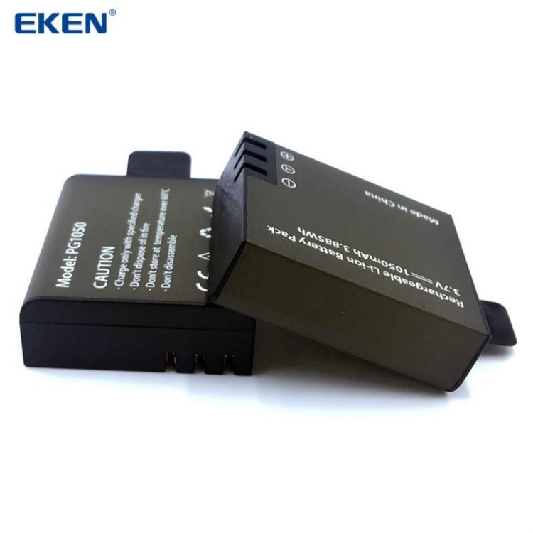1050 Mah Battery สำหรับกล้องกล้องกันน้ำ Eken H3,V8s, H8, H9, H8R, H9R, H8 Pro, H6S ฯลฯ X1