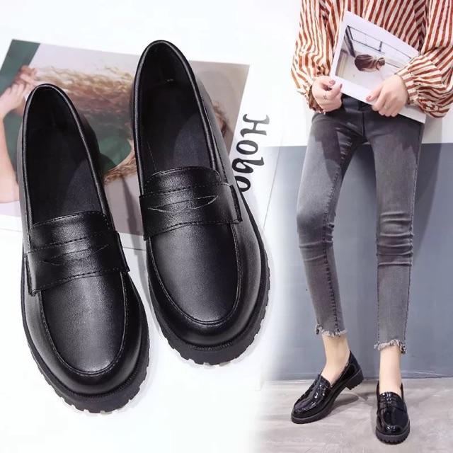 รองเท้าคัชชูสีดำล้วน มีดำเงาและดำด้าน BAOBAO-2149