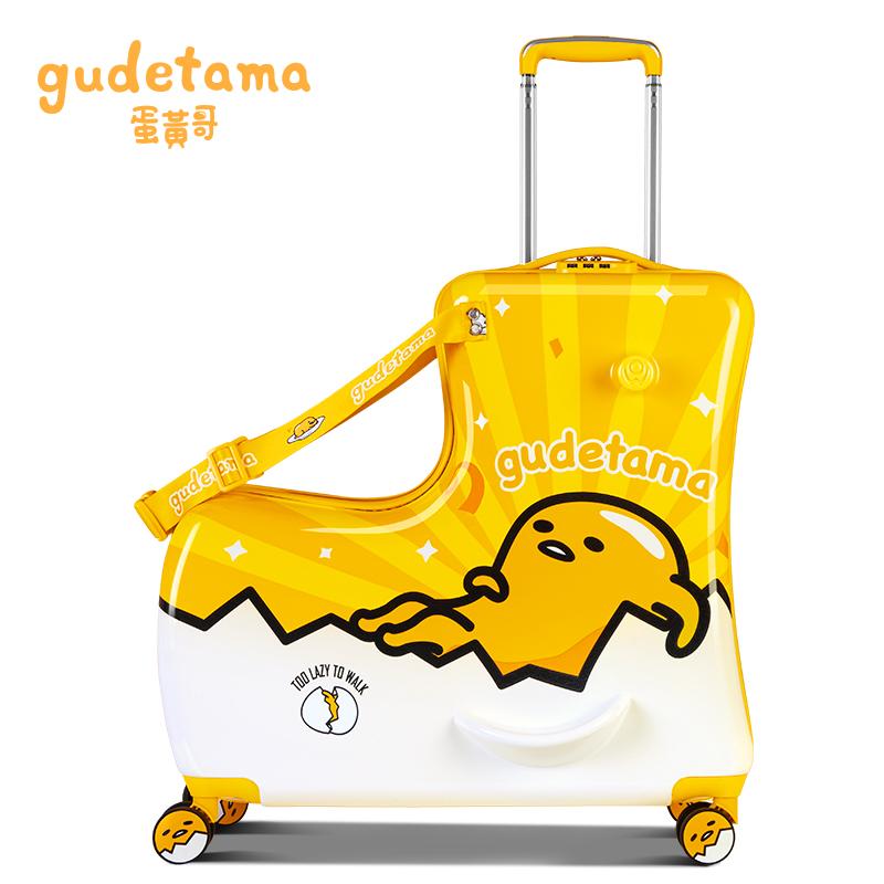 ❄ば กระเป๋าเดินทางล้อลาก กระเป๋าเดินทางล้อลากใบเล็กศิลปะANGกระเป๋าเด็กสามารถนั่งสามารถนั่งทารกกระเป๋าเดินทางชายและหญิงกรณ