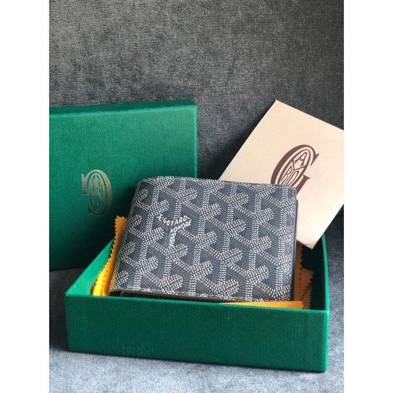 goyard mens wallet grey