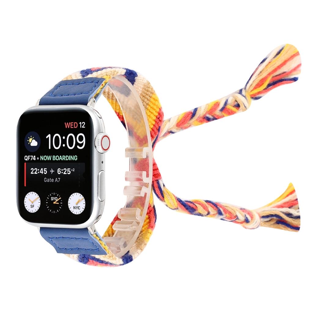สายนาฬิกาข้อมือผ้าถักสําหรับ Apple Watch