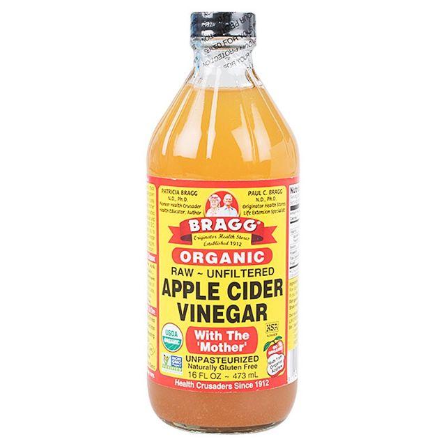 น้ำส้มสายชูหมักจากแอปเปิ้ล 473มล. ตราแบรค BRAGG Apple Cider Vinegar