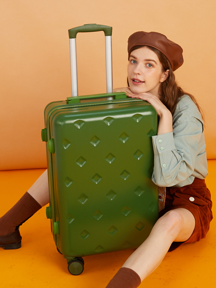 """กระเป๋าเดินทางผู้หญิง24""""สุทธิแดงinsน้ำ20กระเป๋าเดินทางขนาดเล็กที่มีน้ำหนักเบารหัสผ่านกระเป๋าเดินทางกระเป๋าเดินทางชาย26"""