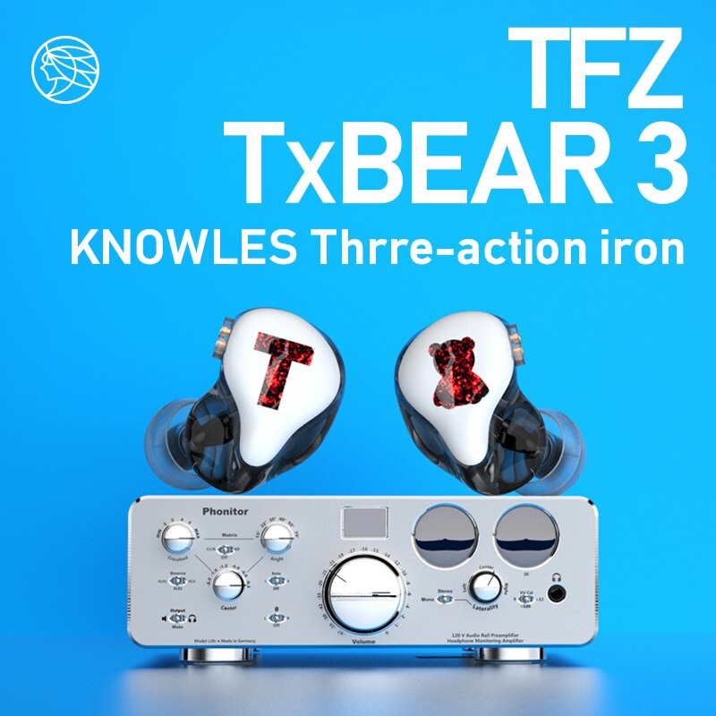 TFZ T x Bear 3 TxBear3 Monitor Earphones TxBear 3 HIFI Headset with High Quality Tri-Motion Iron ชุดหูฟัง