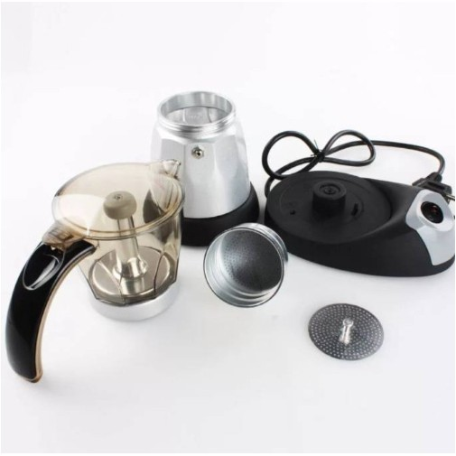 CAF อุปกรณ์ชงกาแฟ เครื่องทำกาแฟไฟฟ้า Moka pot ที่ชงกาแฟ