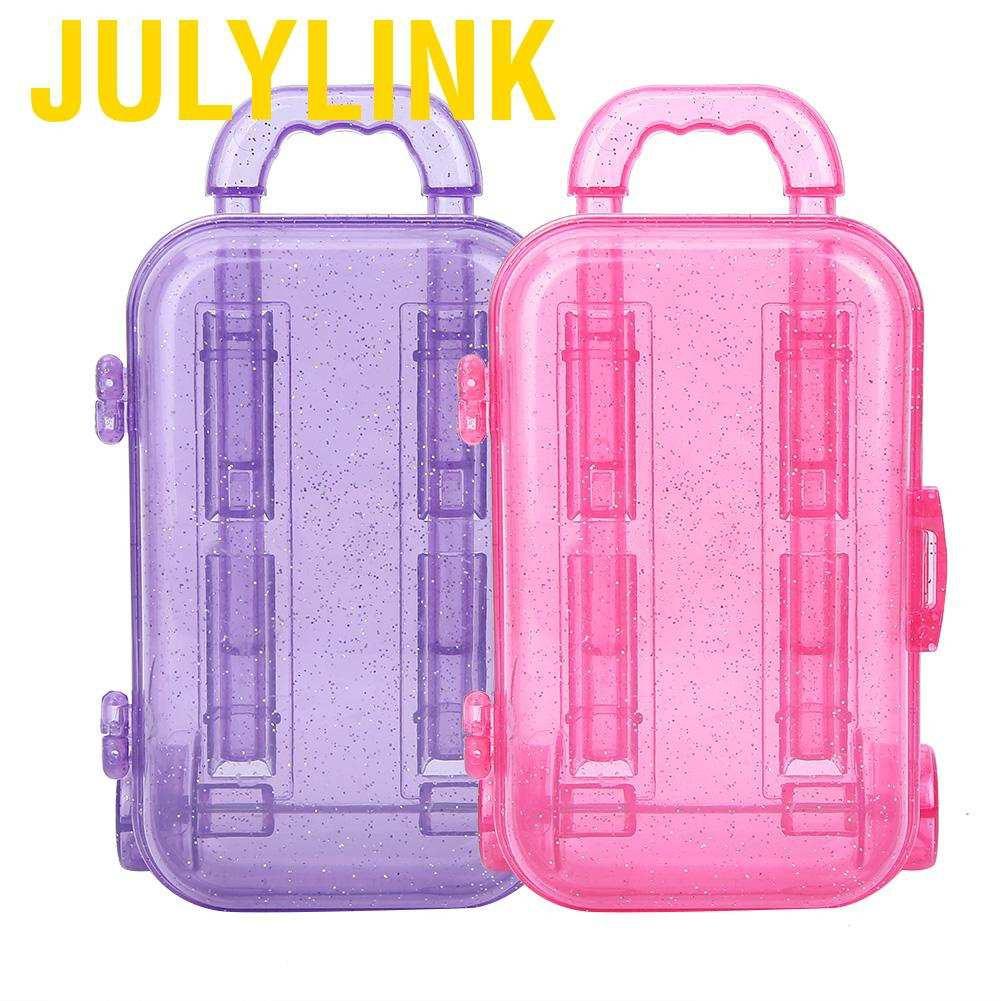 Julylink กระเป๋าเดินทางพลาสติกขนาด 18 นิ้วสําหรับบ้านตุ๊กตา
