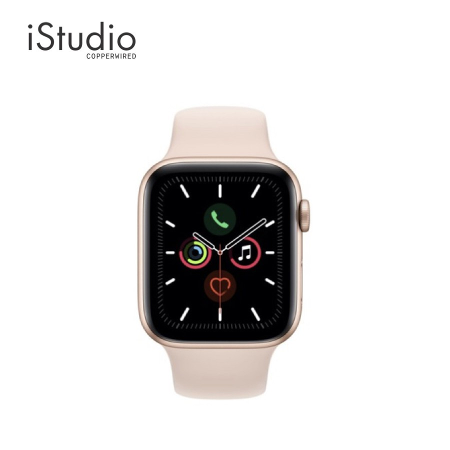 ✟♤Apple Watch Series 5 Gold Aluminum Case with Pink Sand Sport Band iStudio by Copperwired.