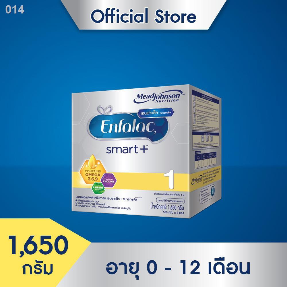 ขวดนม❇[นมผง] เอนฟาแล็ค สมาร์ทพลัส สูตร 1 นมผง สำหรับ ทารก เด็กแรกเกิด เด็กเล็ก ขนาด 1650 กรัม Enfalac Smart+ Formula Mi