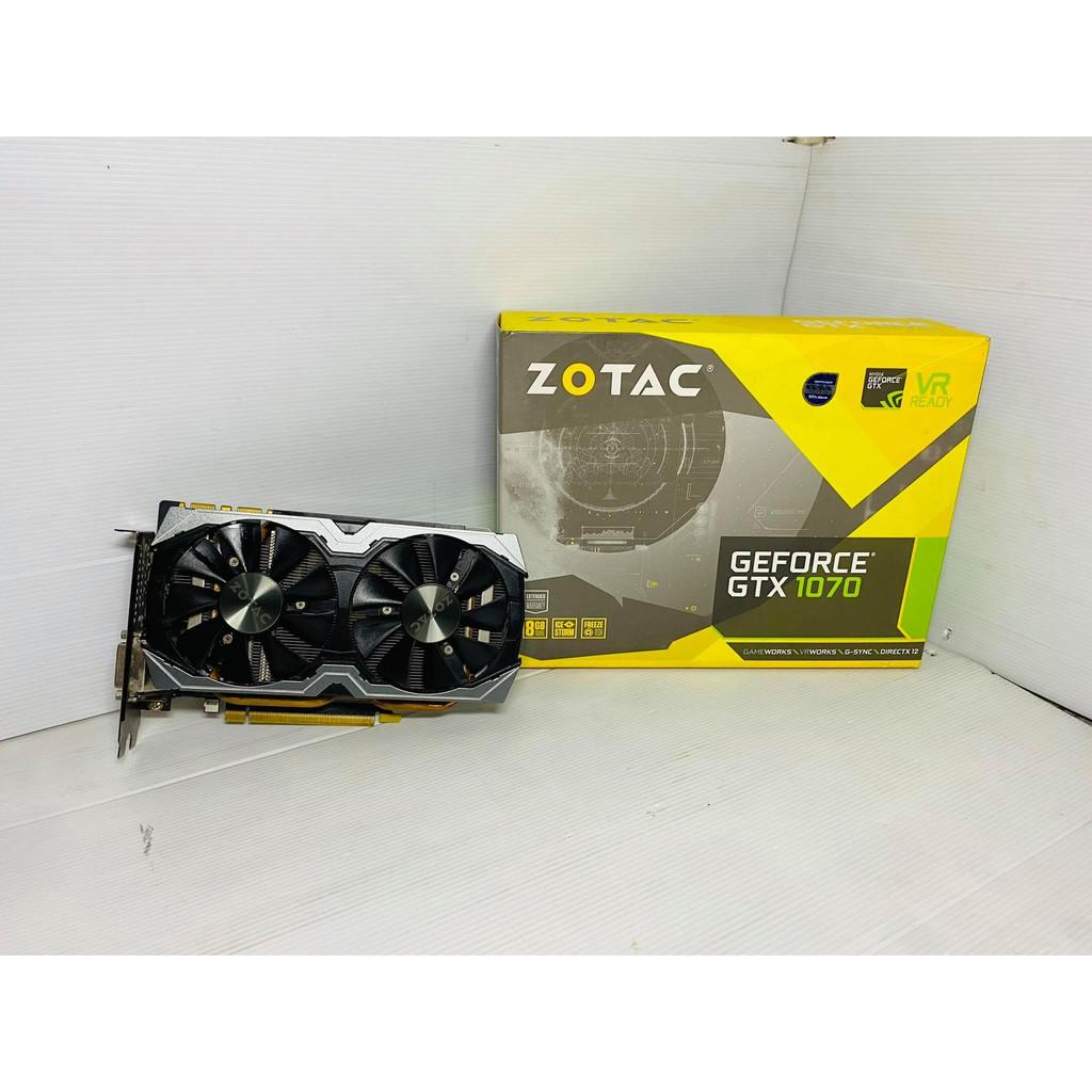 ขายการ์ดจอมือสอง ZOTAC MINI GTX1070 8GB ต่อไฟเพิ่ม 8pin
