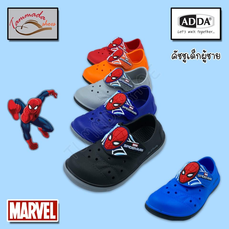 ADDA 5TD52-B1 รองเท้าแตะคัชชูเด็กผู้ชาย spiderman รองเท้าคัชชูเด็ก คัชชูเด็กชาย รองเท้าแตะการ์ตูน รองเท้าการ์ตูนผู้ชาย