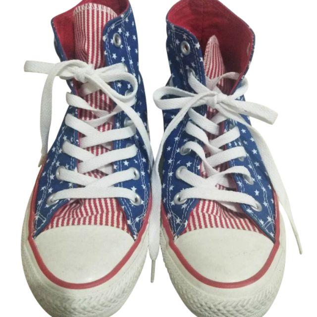 Converse ลายธงชาติUSA (Shopนอก) มือสอง สภาพนางฟ้า