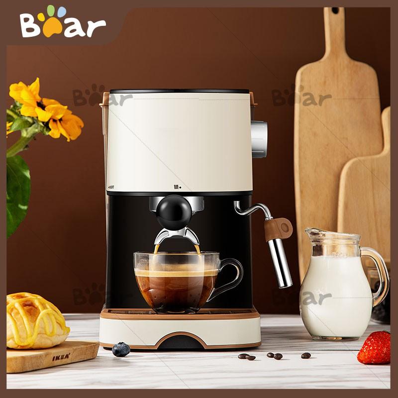 ❦☊∏Bear เครื่องชงกาแฟ เครื่องชงกาแฟมืออาชีพ เครื่องสกัดกาแฟ เครื่องชงกาแฟสดพร้อมทำฟองนมในเครื่องเดียว Coffee maker