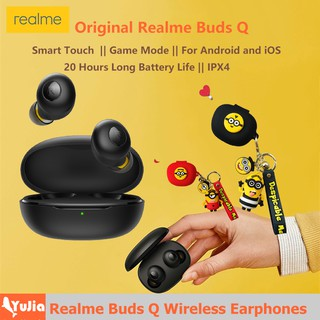 Realme Buds Q Wireless Earphone Original Realme Buds Q Wireless Earphones Bluetooth TWS 400mA Battery Charger Box Bluetooth 5.0 For Android And iOS System Smart Touch