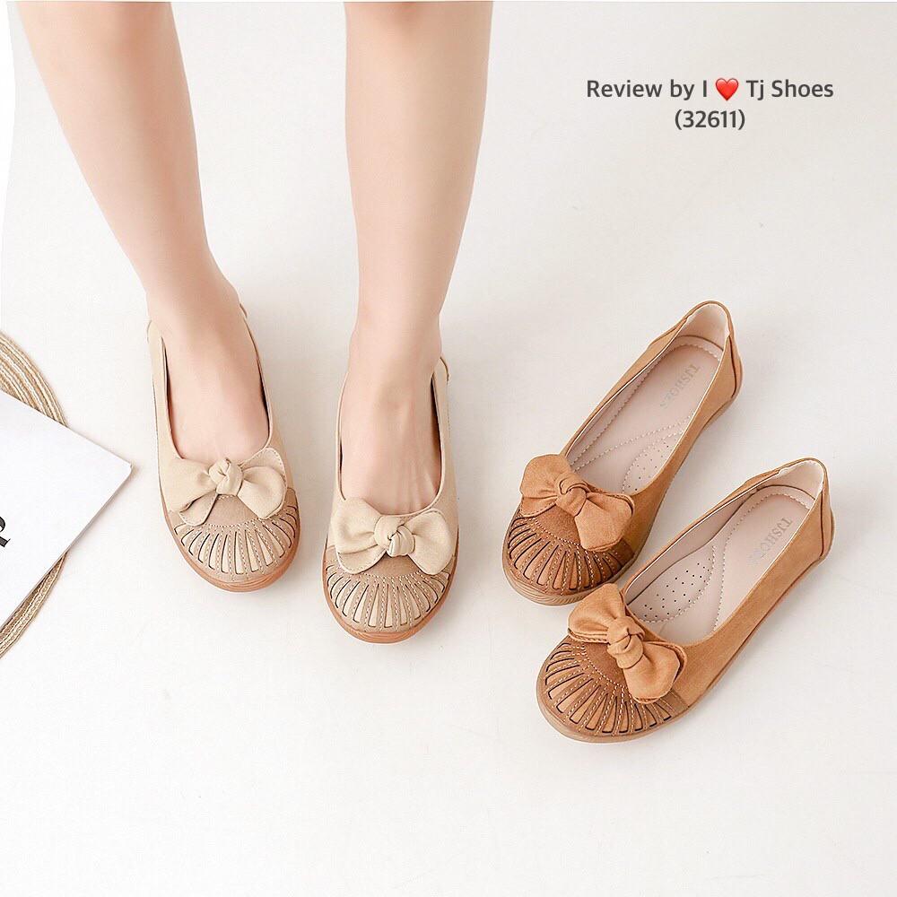 รองเท้าเพื่อสุขภาพคัชชูหน้าโบว์32611