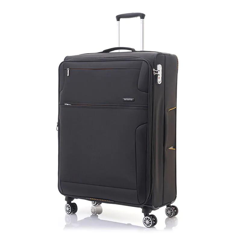 SAMSONITE กระเป๋าเดินทาง 4 ล้อ แบบผ้า รุ่น CROSSLITE ขนาด 24 นิ้ว (สีดำ/สีน้ำเงิน) SPINNER 66/24