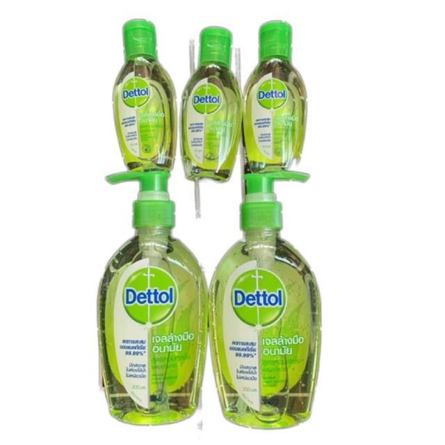 ☑ล็อตใหม่ 200ml ❤️พร้อมส่ง Dettol Alcohol Gel Hand เดทตอล เจลล้างมือ ไม่ใช้น้ำ เจลล้างมืออนามัย พกพา🍒1