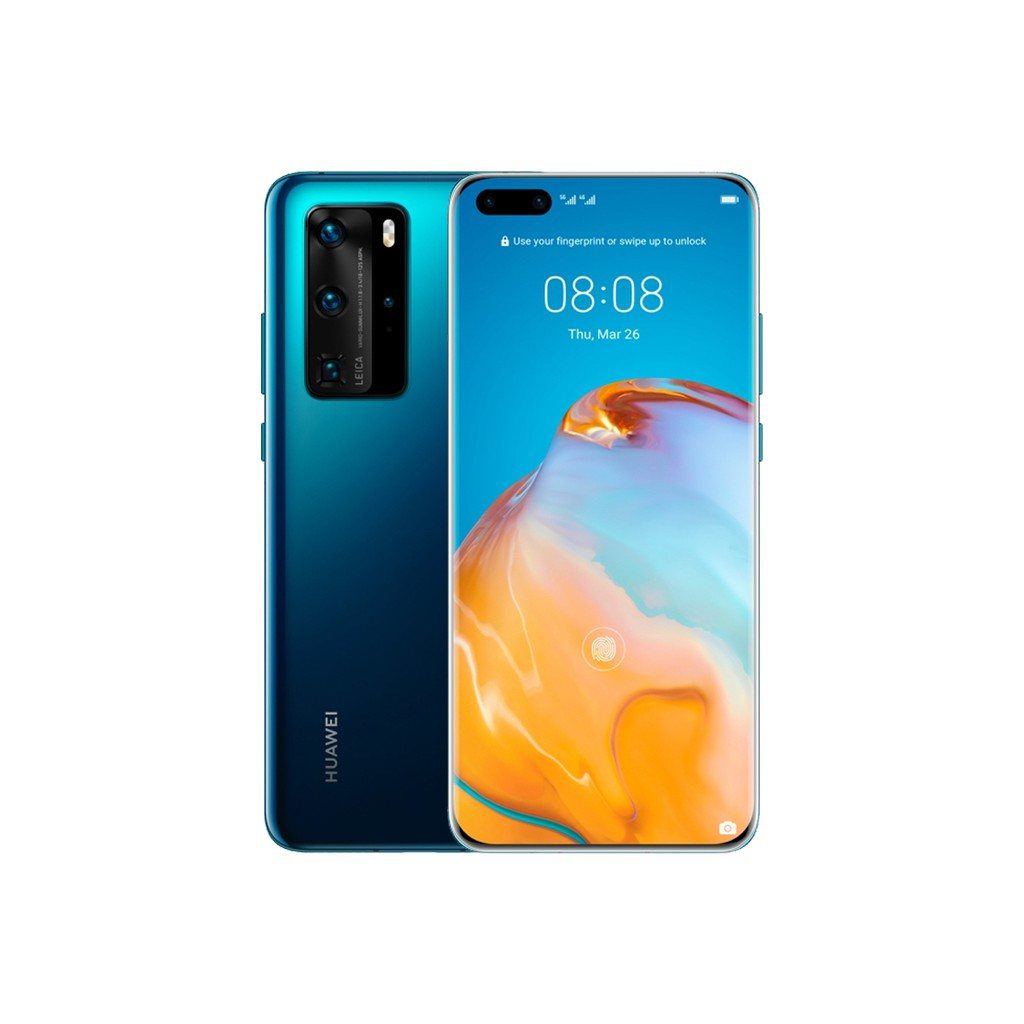 มือถือสมาร์ทโฟน Huawei P40 Pro (8/256GB) : Deep Sea Blue รับประกันศุนย์ไทย1ปี