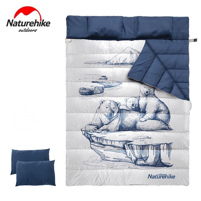 Naturehike Double Sleep Bag ถุงนอนหมีขั้วโลก ถุงนอนคู่ ถุงนอนแคมป์ปิ้ง