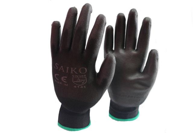 """?? ถุงมือไนล่อนเคลือบ PU เต็มฝ่ามือ ?? """"SAIKO"""" รหัส45 (ราคาต่อคู่)"""