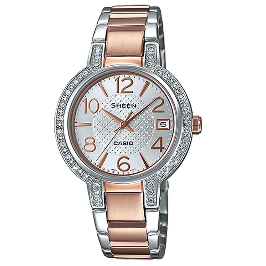 Casio นาฬิกาผู้หญิง สายสแตนเลส รุ่น SHE-4804SG-7