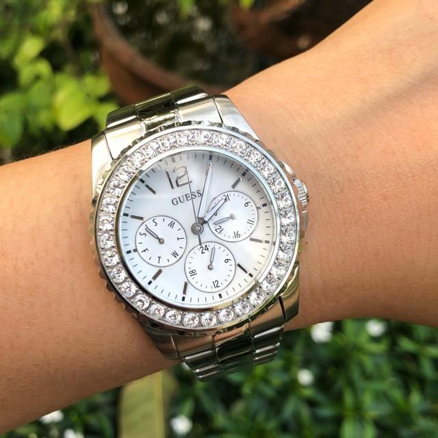 พร้อมส่งของแท้Guess นาฬิกาข้อมือสตรีสีเงิน U 11052 L 1 Guess U 11052 L 1