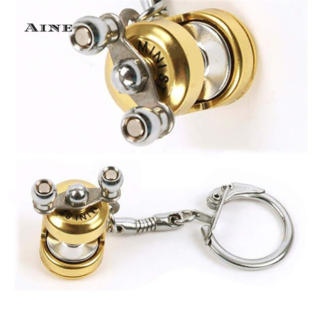 Aine Mini Pocket Fly Reel Trolling Metal Key Chain