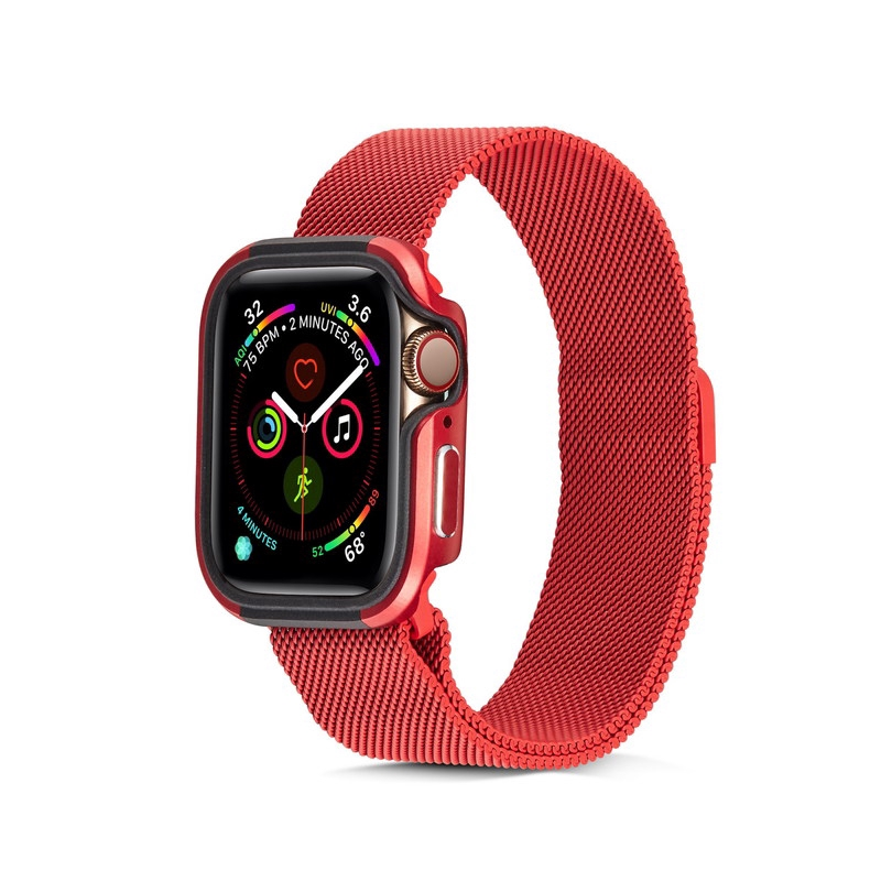 Shockproof Bumper Cover for Apple Watch 44 40 mm iwatch series 5 4 Aluminum Alloy+TPU Watch Protective case