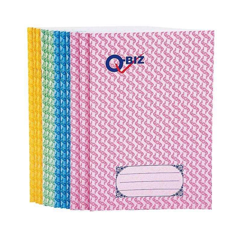 คิวบิซ สมุดปกอ่อนลายไทย 55 แกรม 30 แผ่น แพ็ค 12 เล่ม Q-Biz Softcover Thai Pattern Book 55 gsm. 30 Sheets Pack 12 Books