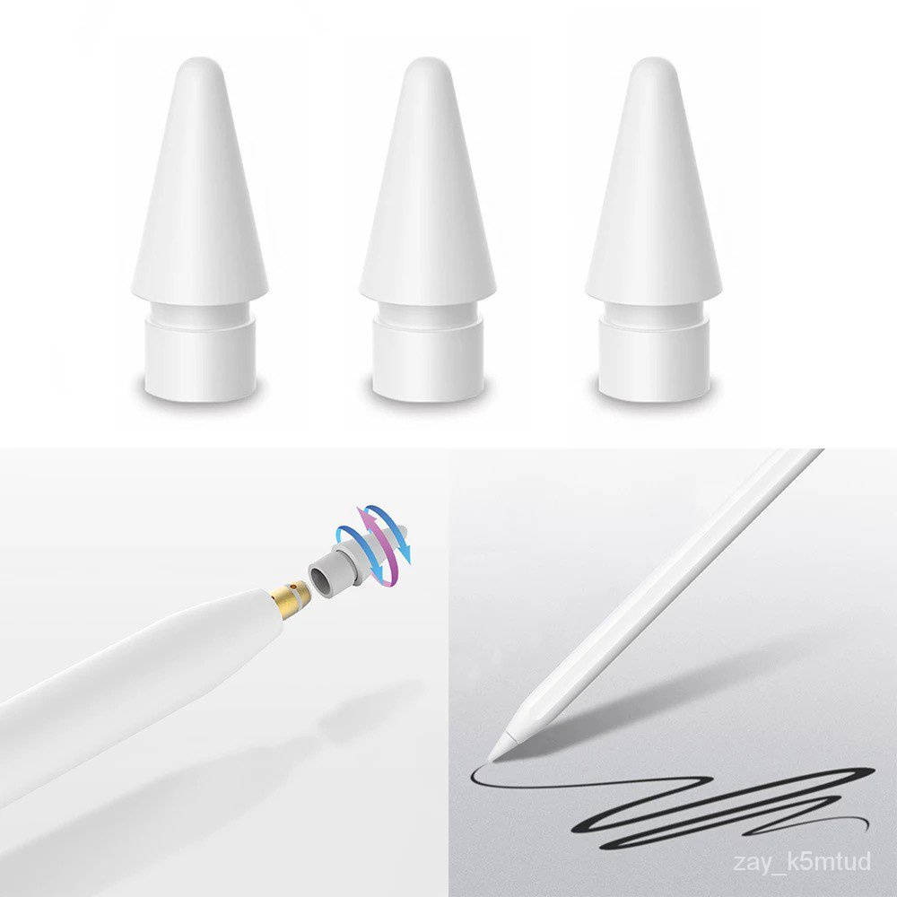 9jN9 Original! Apple Pencil Tips。Replacement tip for Apple Pencil。Compatible with Apple Pencil and Apple Pencil (2/3nd g