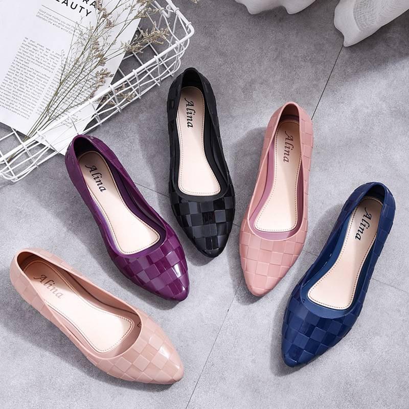 CC6 รองเท้าคัชชูผู้หญิง ทรงหัวแหลม เนื้อยยางนิ่ม สวมใส่สบาย มี 5 สี