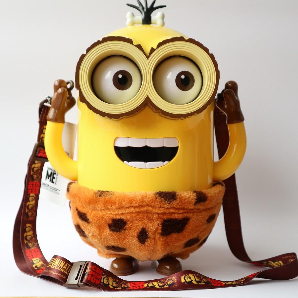 [พร้อมส่ง] 👑ถังป๊อปคอร์น มินเนี่ยนชุดคนป่า 👑 Cro. Minion Popcorn Bucket : USJ Limited 🎀 ของแท้ 🎀