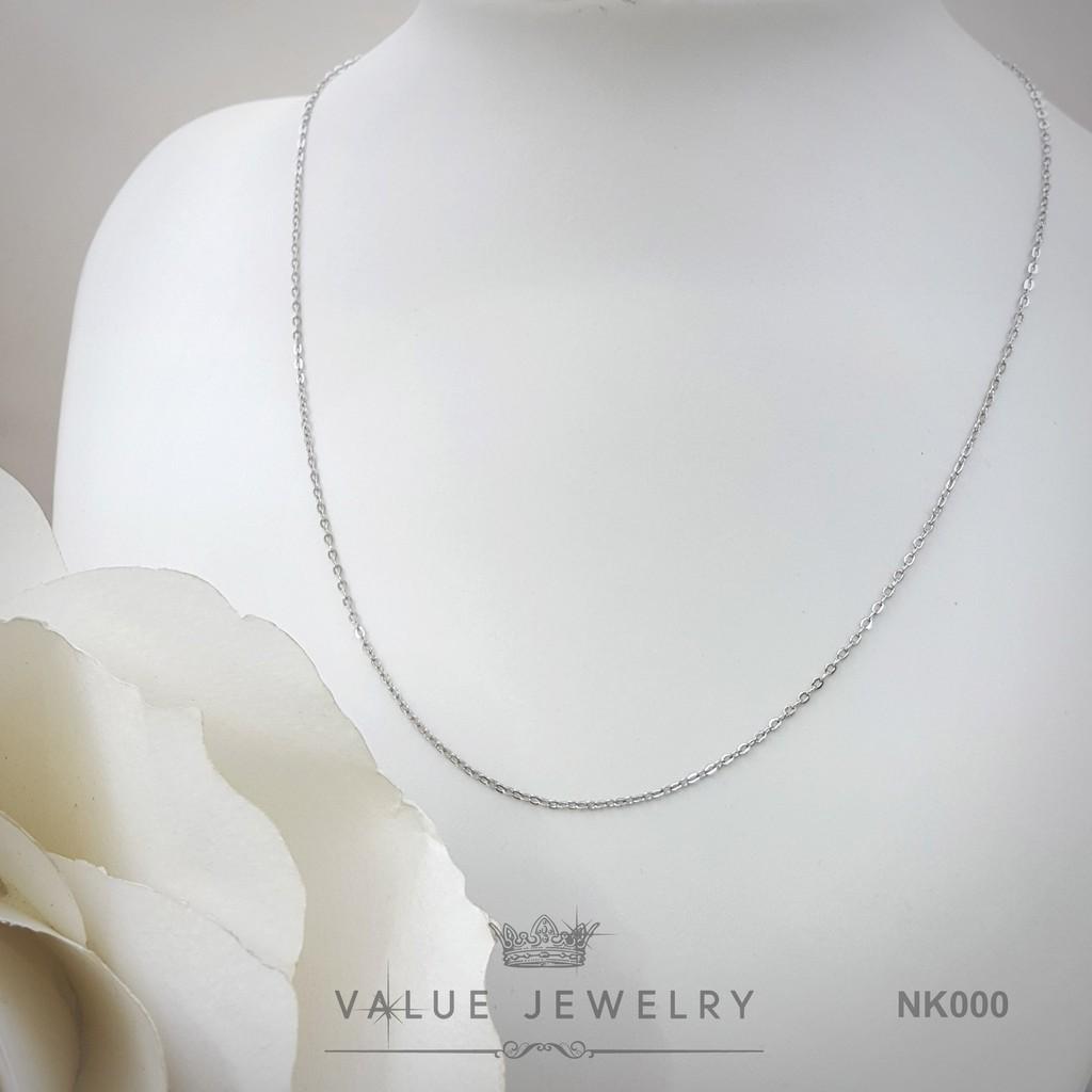 สร้อยคอ สร้อย ชุบทองคำขาว รุ่น AC002 Value Jewelry ยาว45cm 18นิ้ว ไม่ลอก ไม่ดำ ราคาส่ง ขายดี