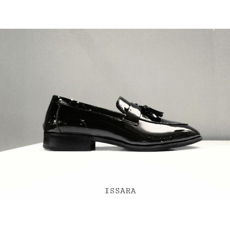 รองเท้าคัชชูผู้ชาย รองเท้าหนังผู้ชาย Loafers รองเท้าชายหนังแก้วมันเงา ดำ